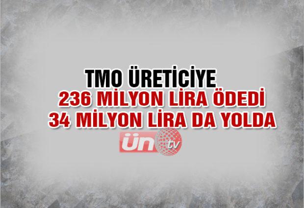TMO, 236 Milyon Lira Ödedi