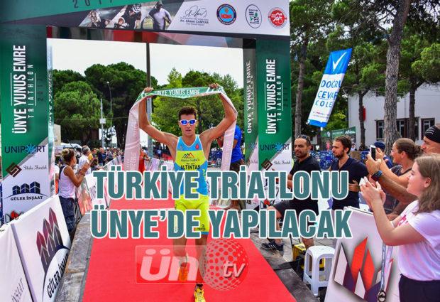Türkiye Triatlonu Resmi Olarak Ünye'de Yapılacak