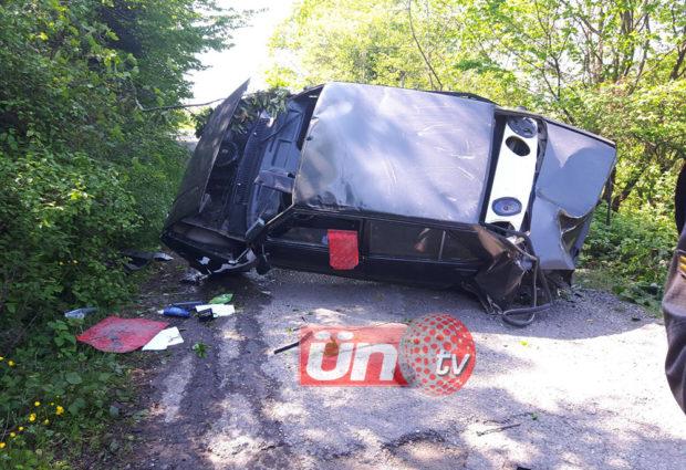 Otomobil Şarampole Yuvarlandı 1 Yaralı