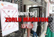 Ünye'de Zorlu Maraton