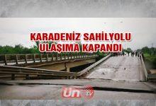 Karadeniz Sahil Yolu Kapandı