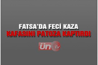 Fatsa'da Feci Patoz Kazası