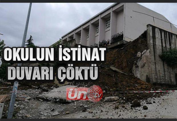 Okulun İstinat Duvarı Çöktü