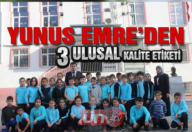 Yunus Emre Okulu Ulusal Kalite Etiketi Aldı!