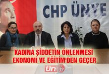 CHP'den Kadına Şiddet Açıklaması!