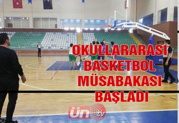 Okullararası Basketbol Müsabakası Başladı
