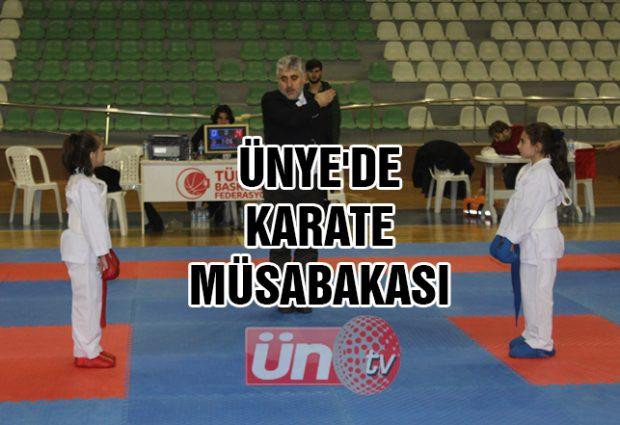 Ünye'de Karate Müsabakası