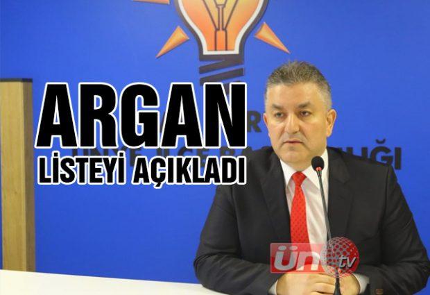 Argan Yönetim Listesini Açıkladı