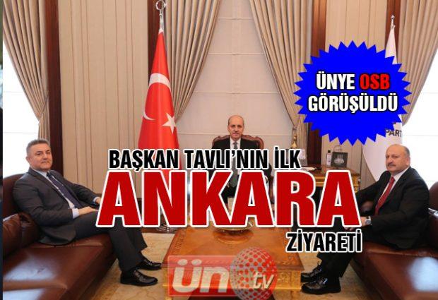 Başkan Tavlı, Ankara'dan döndü