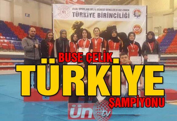 Buse Çelik Türkiye Birincisi Oldu!