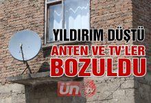 Düşen Yıldırım Anten ve TV'lere Zarar Verdi!