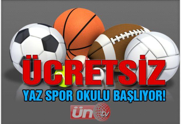 Ücretsiz Yaz Spor Okulu Başlıyor