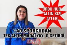 Ordu'nun Tek Şampiyonu Ayfer Arslan