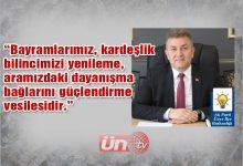 Başkan Argan'dan Bayram Mesajı