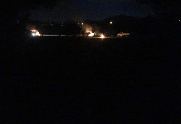 Ünye'de Çadırlar Ve Otomobiller Ateşe Verildi