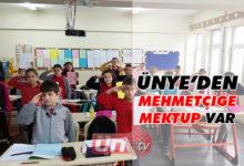 Ünyeli Öğrencilerden Mehmetçiğe Mektup Var!