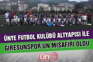 Ünye Futbol Kulübü, Giresunspor'un Misafiri Oldu