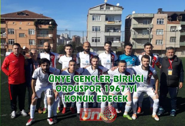 Ünye Gençlerbirliği Maça Hazır