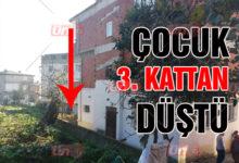 3 Katlı Binadan Düşen Çocuk Yaralandı!