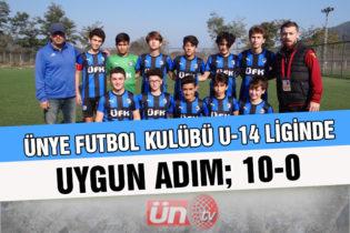 Ünye Futbol Kulübü U-14 Liginde Uygun Adım!