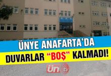 """Ünye Anafarta'da Duvarlar """"Boş"""" Kalmadı!"""