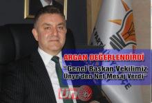 Başkan Argan O Ziyareti Değerlendirdi