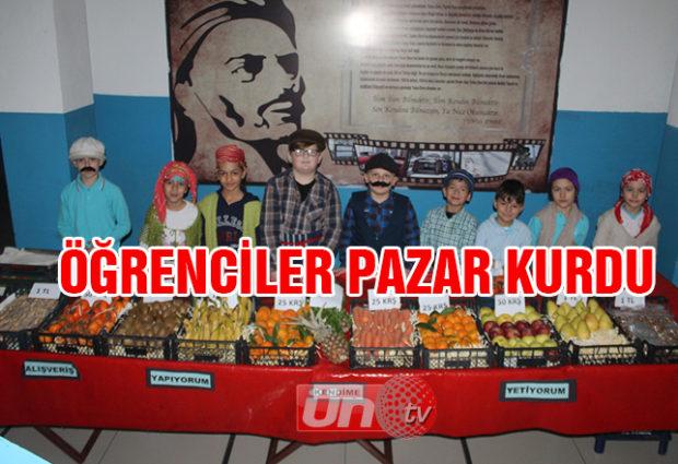 Öğrenciler Pazar Kurdu, Arkadaşları Alışveriş Yaptı