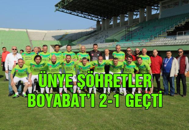 Ünye Şöhretler Boyabat'ı 2-1 Geçti
