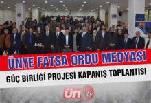 Ünye Fatsa Ordu Medyası Güç Birliği Projesi'nde Kapanış Etkinliği