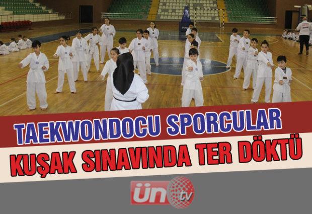 Ünye'de Taekwondo Sınavına Yoğun Katılım