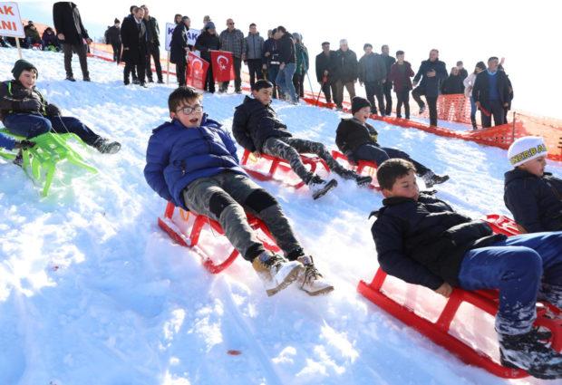 Mesudiye Kar Festivalinde Buluştu