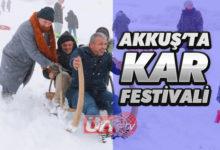 Akkuş'ta Kar Festivali Başladı