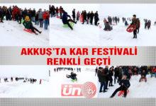 Akkuş'ta Kar Festivali Renkli Görüntülere Sahne Oldu