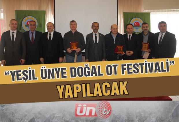 """Ünye'de """"Yeşil Ünye Doğal Ot Festivali"""" Yapılacak"""