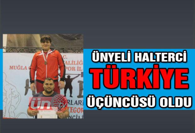 Ünyeli Halterci Türkiye Üçüncüsü Oldu