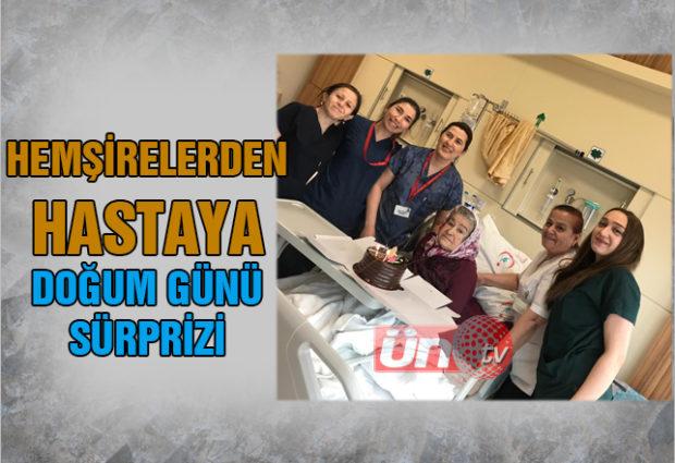 Hastane çalışanlarından Doğum Günü Sürprizi