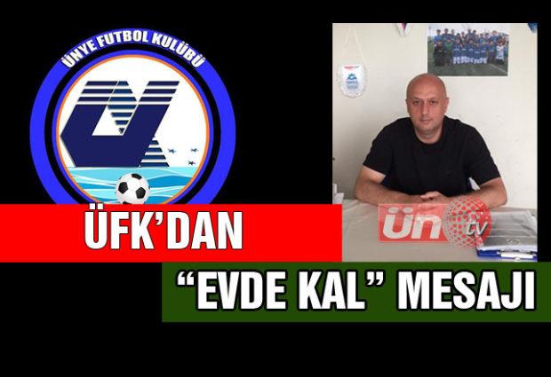"""Ünye Futbol Kulübü'nden """"Evde Kal"""" Mesajı!"""