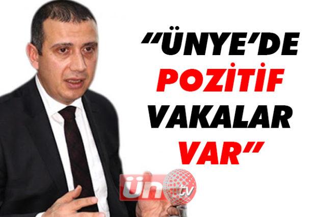 """Kaymakam Güney """"Ünye'de Pozitif Vaka Var!"""""""